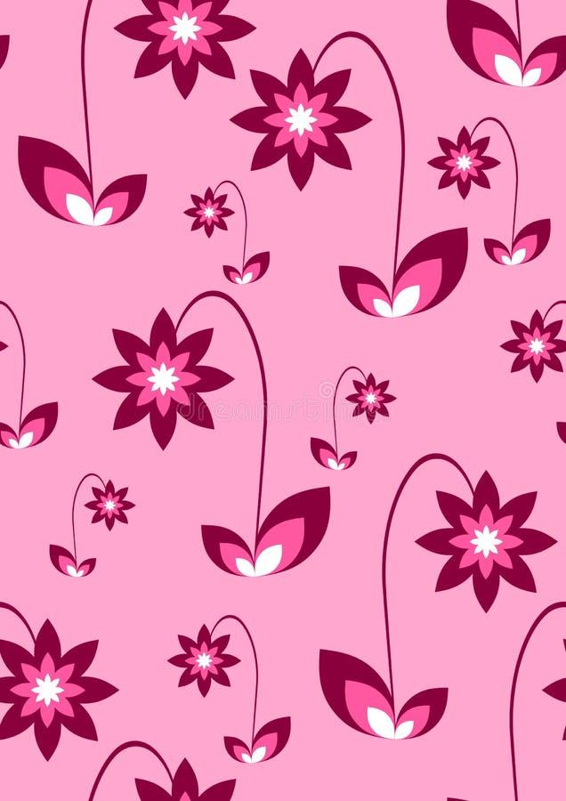 Rosarote Blumen-Tapete lizenzfreie abbildung
