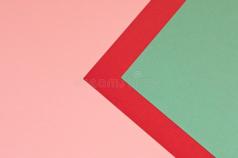 Rosarote und blaue Hintergrundbeschaffenheit des farbigen Papiers Modische Farben für Design Abstraktes geometrisches stockfotos