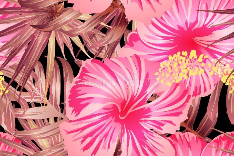 Rosarotes exotisches Muster lizenzfreie abbildung