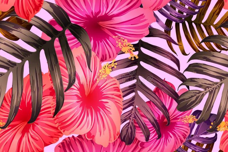 Rosarotes exotisches Muster vektor abbildung