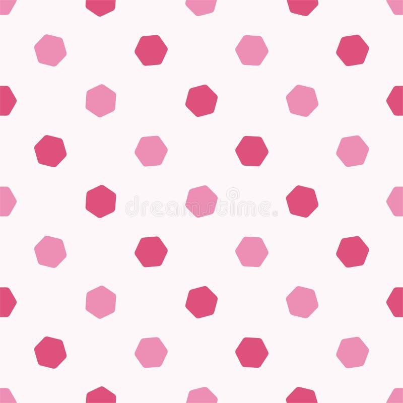 Rosarotes Hexagon der netten nahtlosen Musterform Kopieren Sie passendes f?r Poster, Postkarten, Gewebe oder Packpapier vektor abbildung