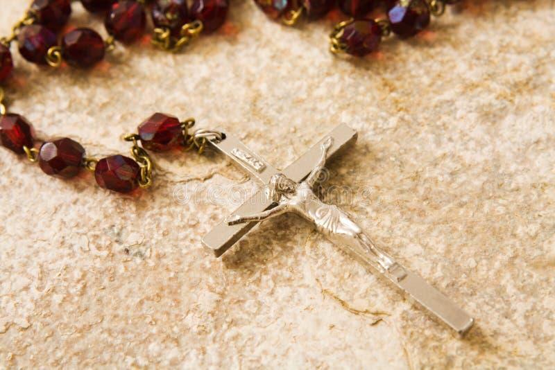 Download Rosary beads on stone stock photo. Image of catholic, close - 2011178