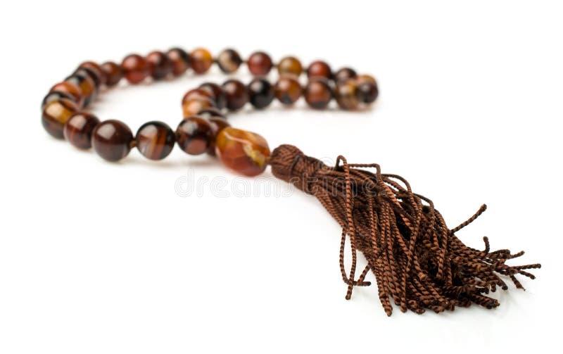 Rosary Of Carnelian Beads Stock Photography