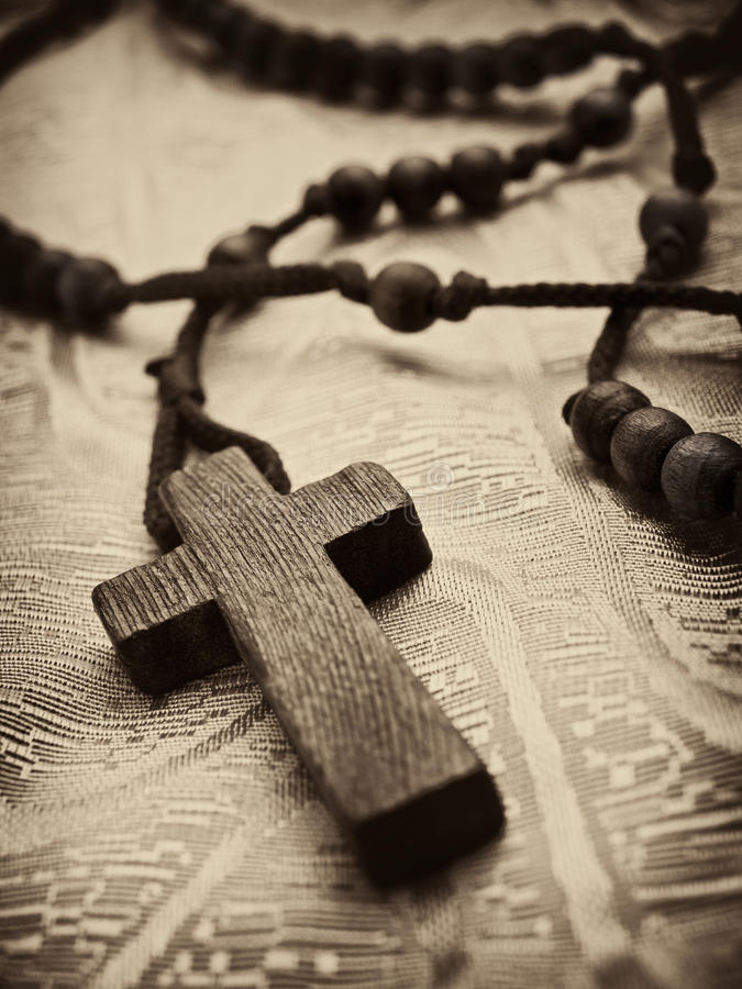 Rosary Cross Royalty Free Stock Images