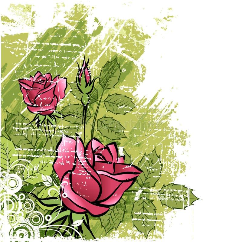Rosas stock de ilustración