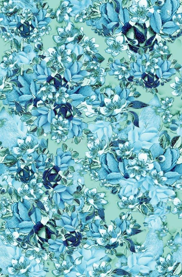 Rosas azuladas imagens de stock