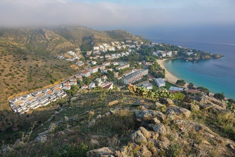 Rosas Cataluña de Canyelles de la costa de España Costa Brava imagen de archivo libre de regalías