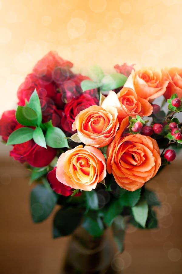 Rosas coloridas con el bokeh imagenes de archivo