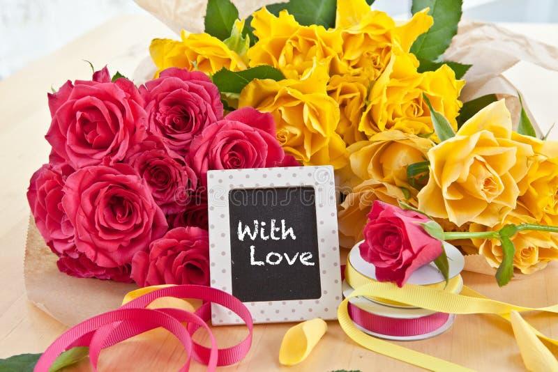 Rosas coloridas frescas imagen de archivo libre de regalías