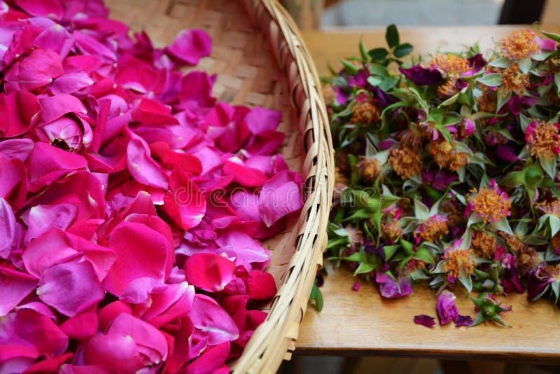 Rosas comestibles fotos de archivo