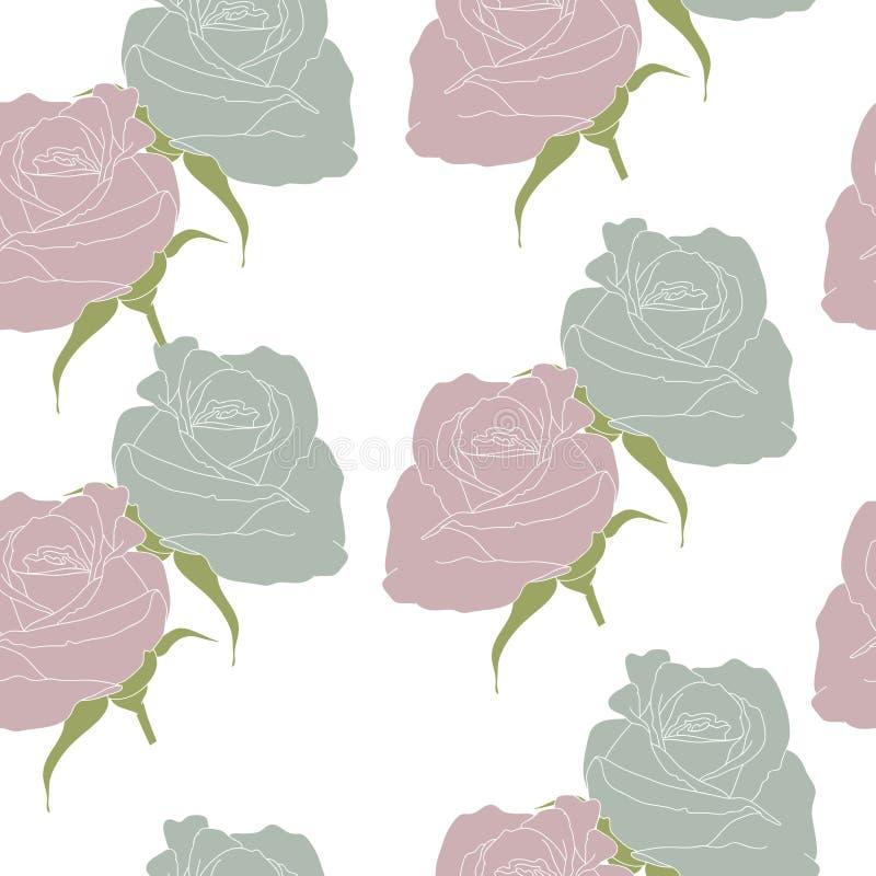 Rosas Conventionalized ilustração do vetor