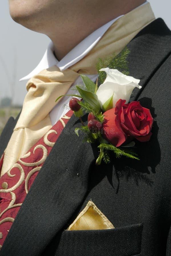 Download Rosas da casa de botão foto de stock. Imagem de groom, uniões - 102434
