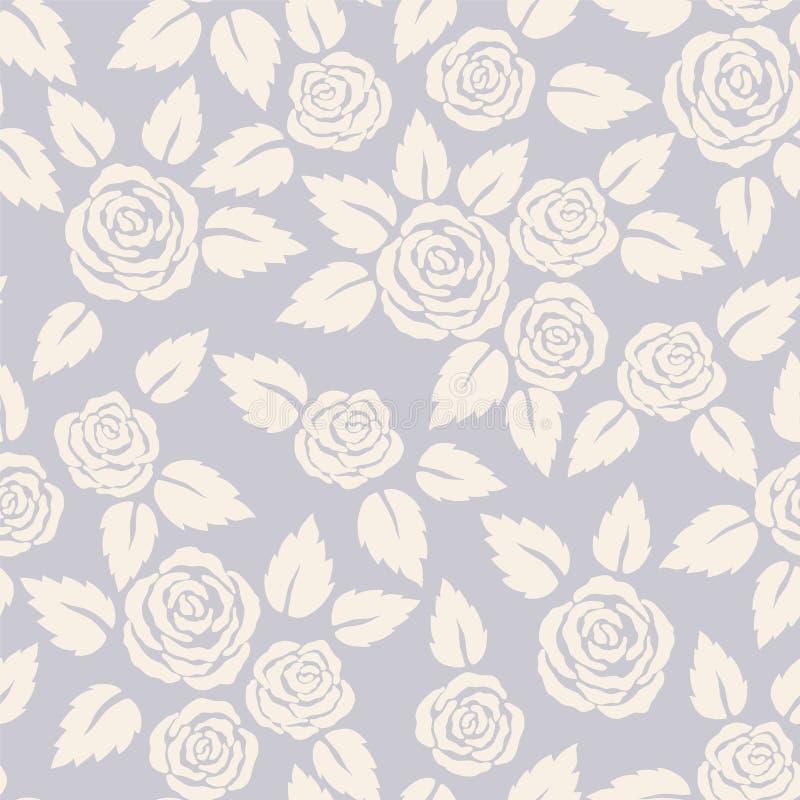 Rosas da silhueta ilustração royalty free