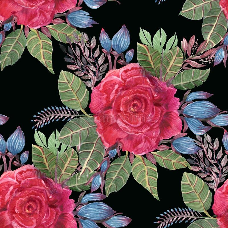 Rosas de la acuarela libre illustration