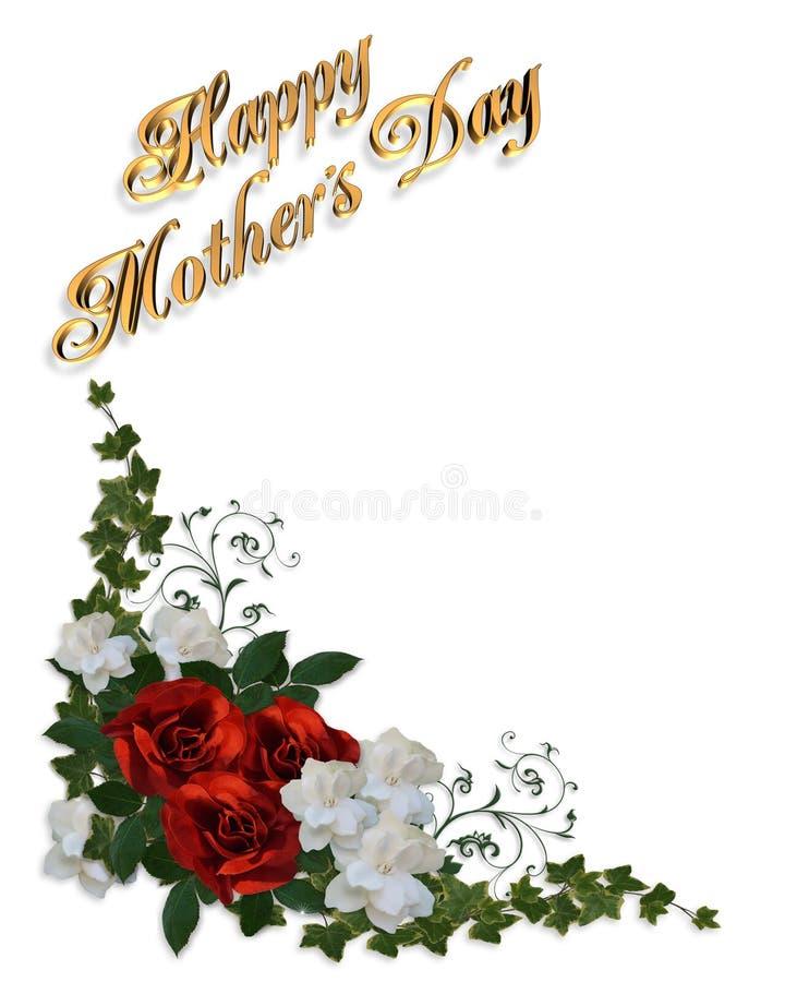 Rosas de la tarjeta del día de madres ilustración del vector