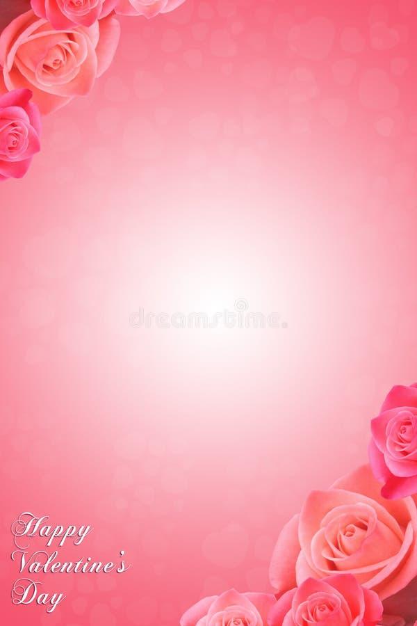 Rosas de la tarjeta del día de San Valentín ilustración del vector