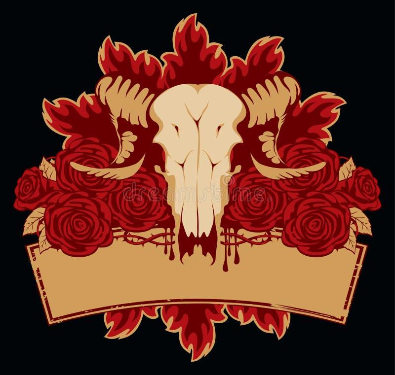 Rosas de las ovejas del cráneo libre illustration