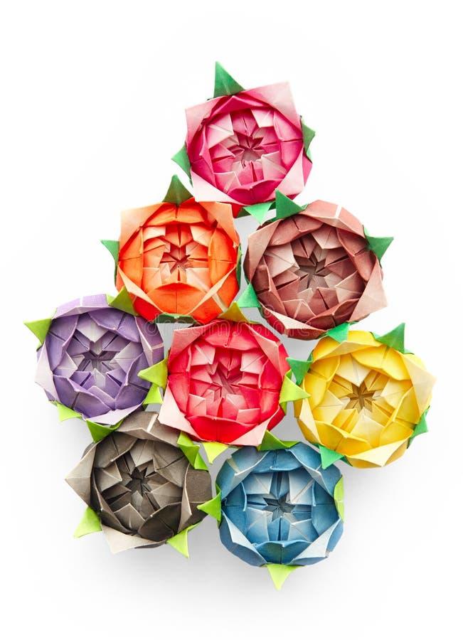 Rosas de Origami ilustração stock
