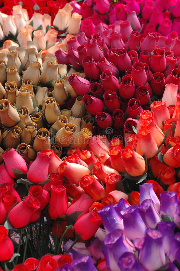 Rosas de papel imagenes de archivo