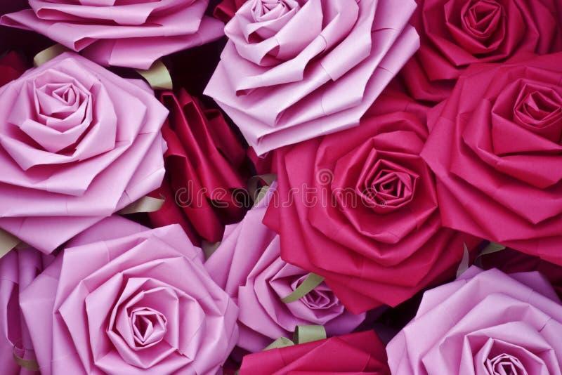 Rosas de papel imagem de stock