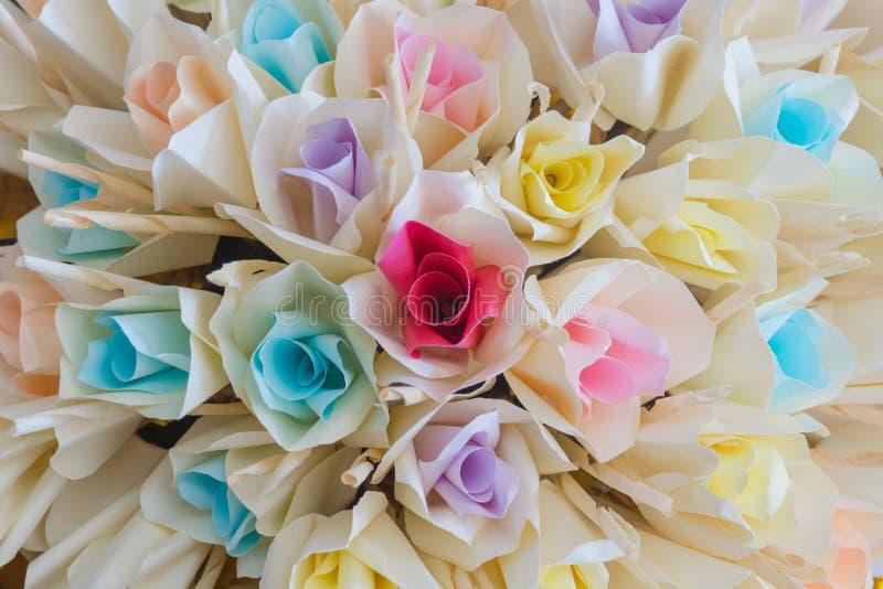 Rosas de papel fotografia de stock royalty free