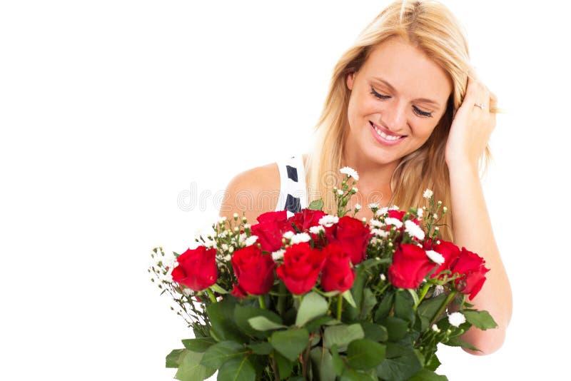 Rosas del admirador secreto foto de archivo