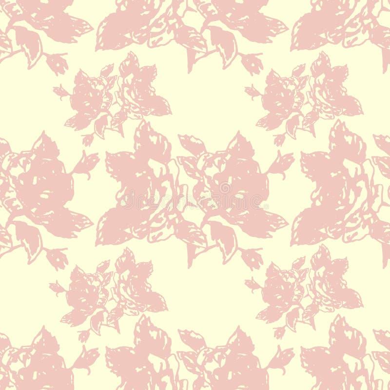 Rosas del ejemplo Flores en un background Modelo inconsútil ilustración del vector