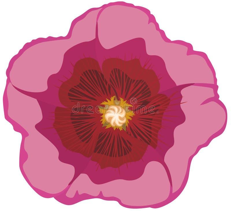 Rosas del vástago de la flor ilustración del vector