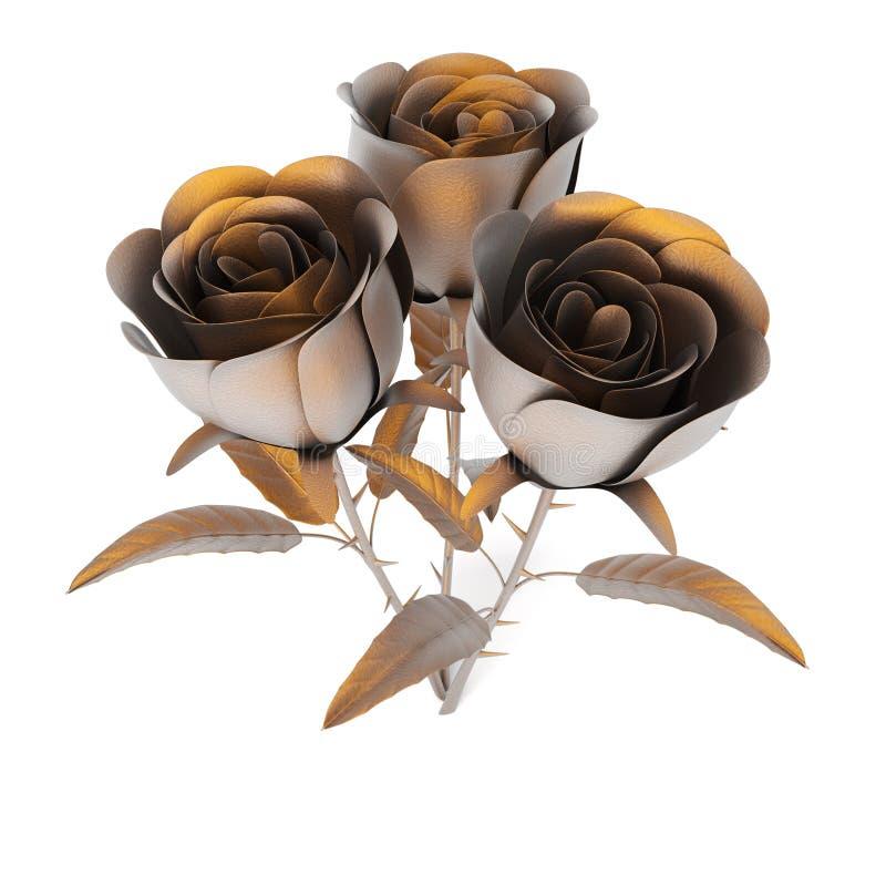 Rosas do metal ilustração do vetor