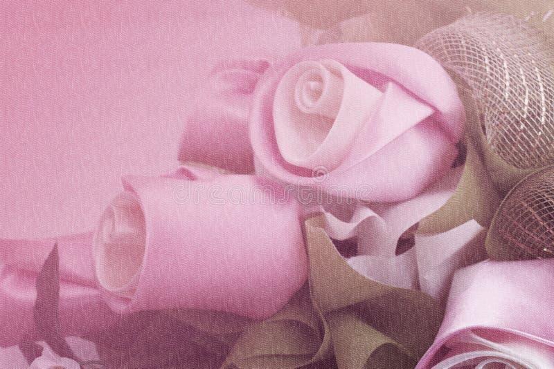 Rosas dulces de la tela del color en el estilo suave para el fondo imágenes de archivo libres de regalías