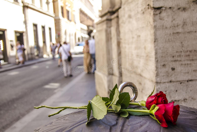 Rosas em Roma fotografia de stock