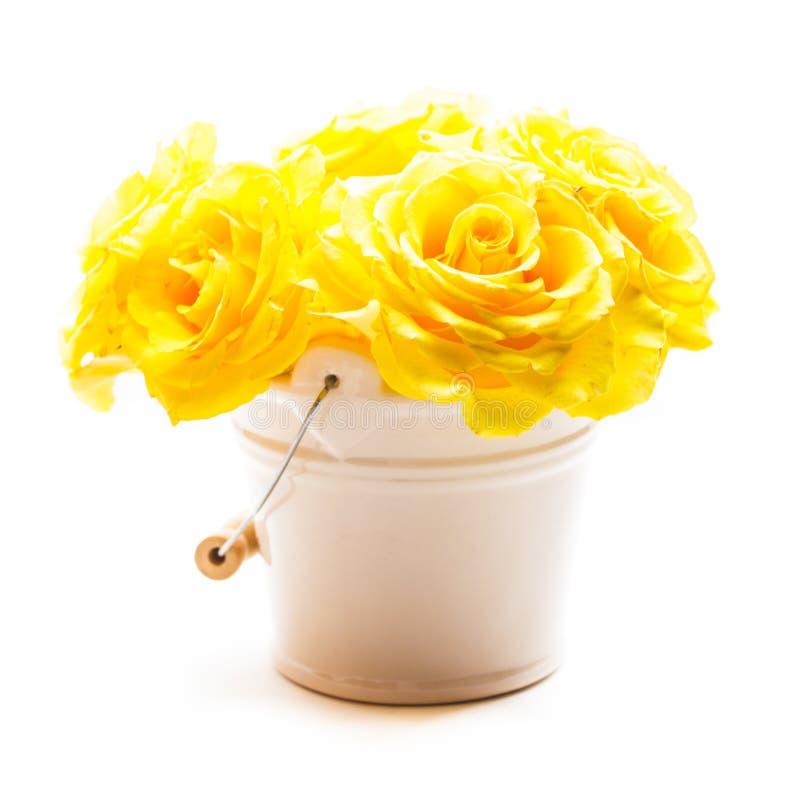 Download Rosas en el cubo imagen de archivo. Imagen de regalo - 41921231