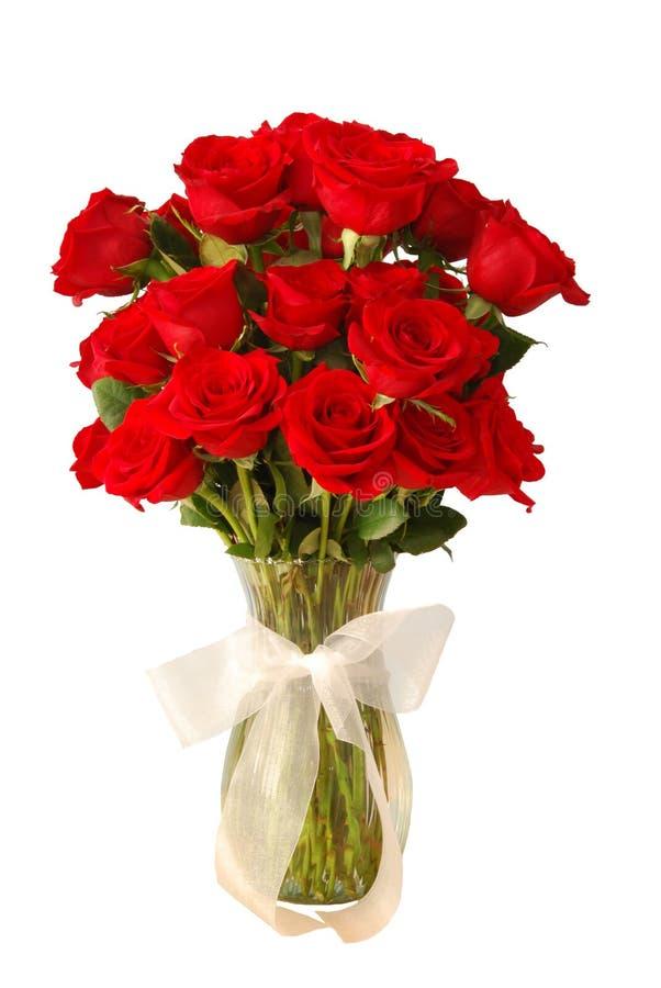 Rosas en florero fotos de archivo libres de regalías