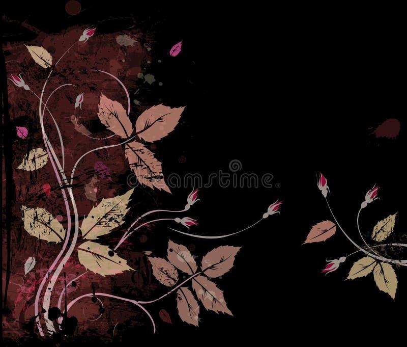 Rosas en negro ilustración del vector