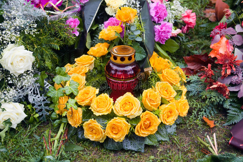 Rosas funerais imagens de stock royalty free