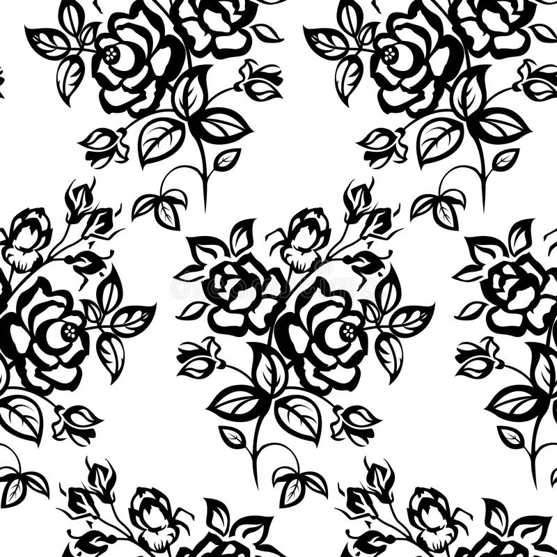 Rosas inconsútiles stock de ilustración