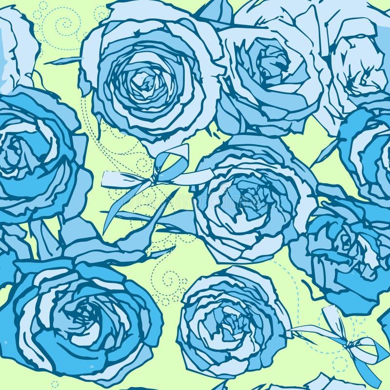 Download Rosas inconsútiles ilustración del vector. Ilustración de contorno - 41921317