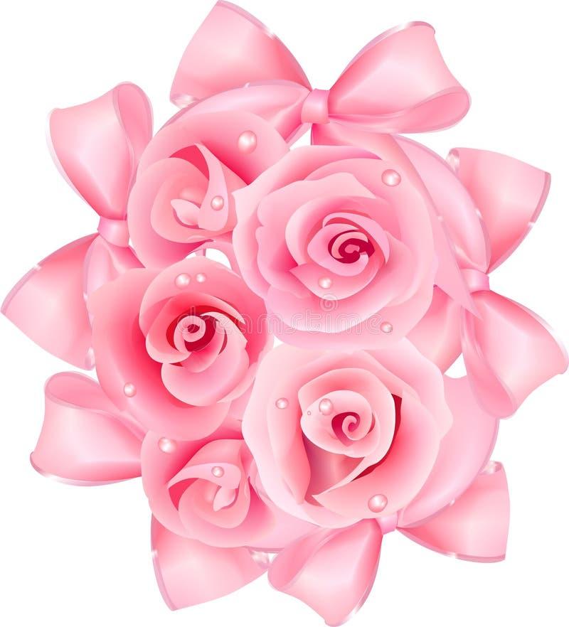Rosas na cor-de-rosa ilustração stock