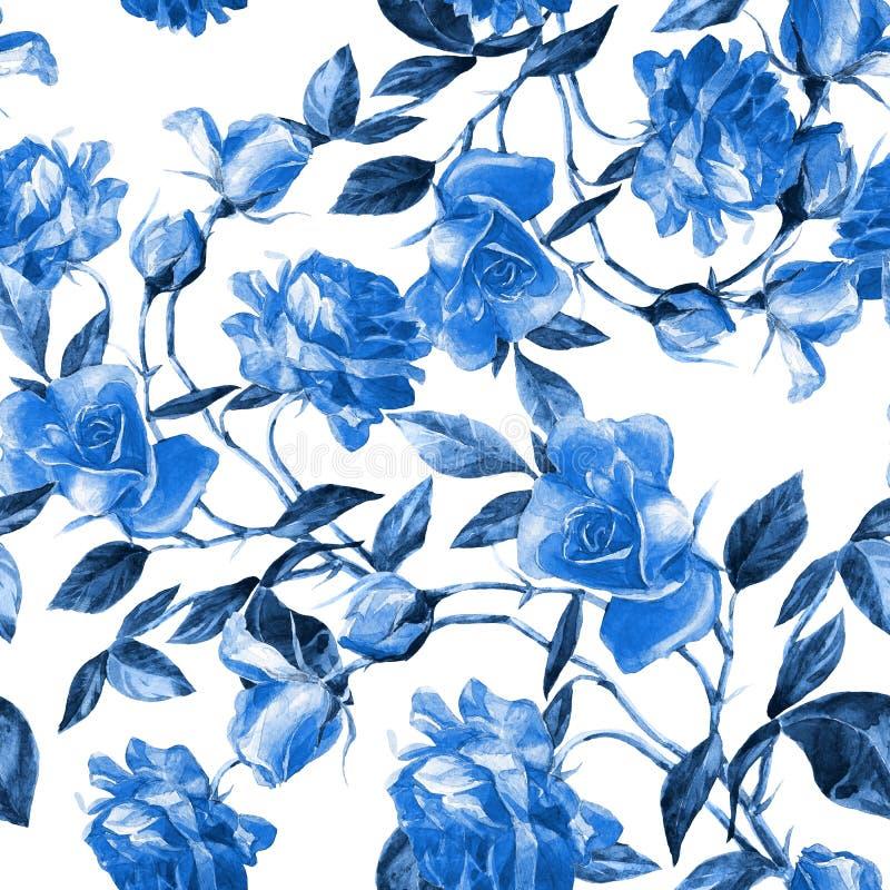 Rosas pintadas na aquarela imagens de stock royalty free
