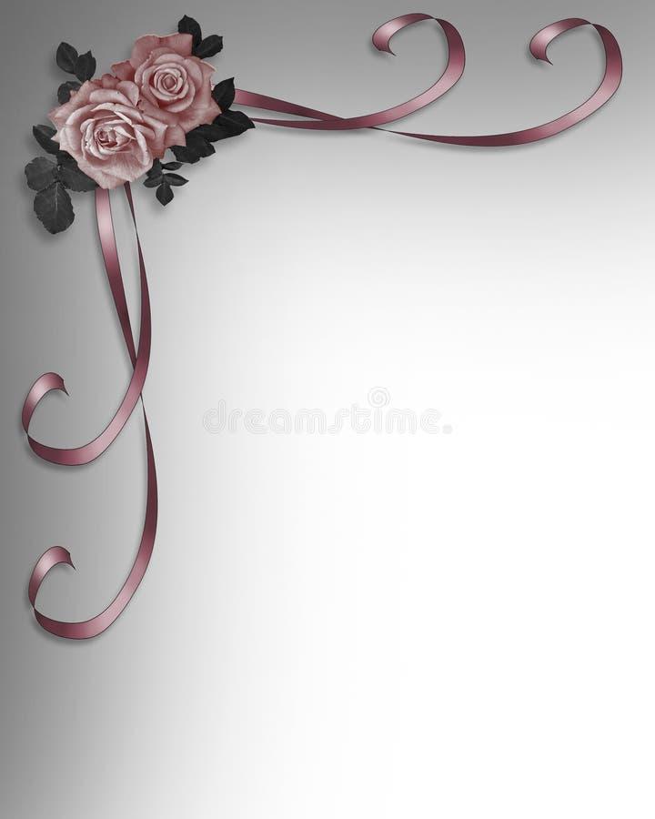 Rosas que Wedding o convite ilustração royalty free