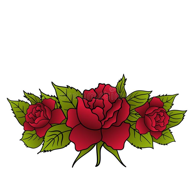 Rosas rojas hermosas aisladas libre illustration