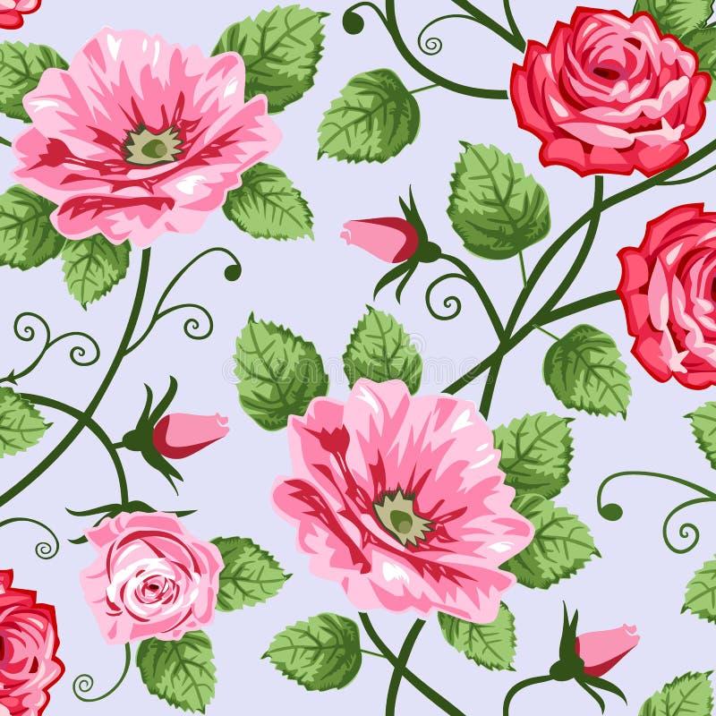 Rosas románticas ilustración del vector