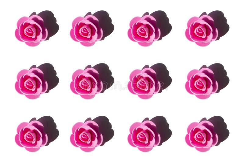 Rosas rosadas artificiales imagenes de archivo