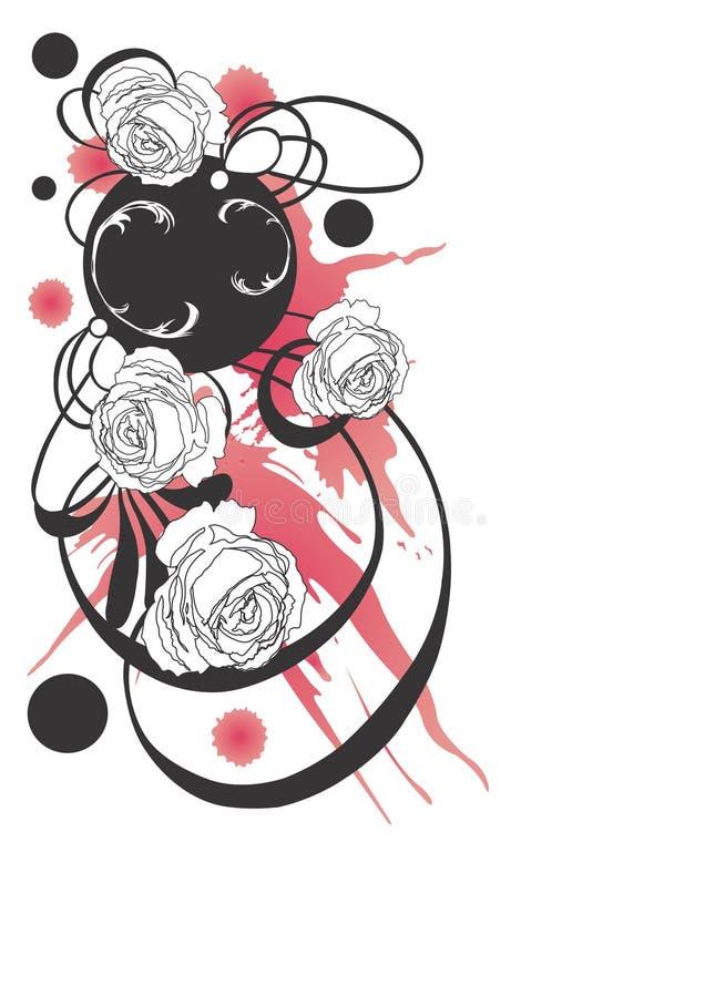 Rosas sujas ilustração stock