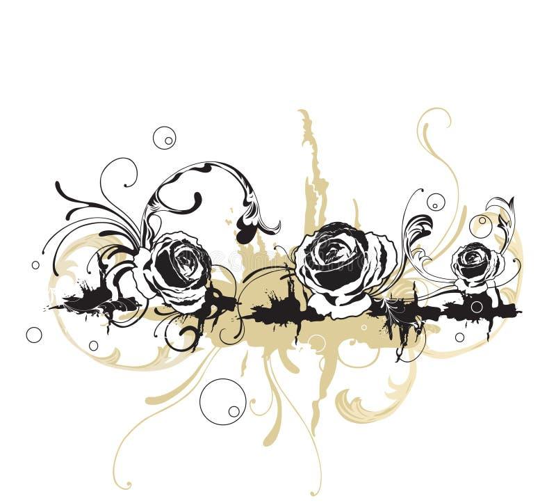 Rosas sujas ilustração do vetor