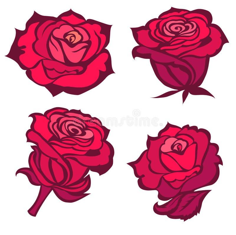 Rosas vermelhas da ilustração do vetor ilustração do vetor