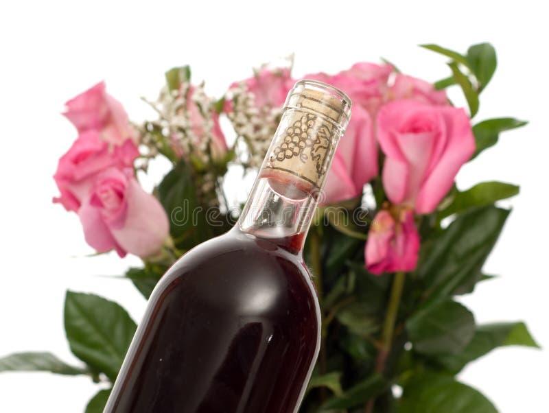 Rosas y Champán foto de archivo