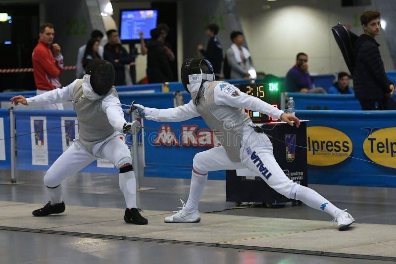 Sword FIE Fencing Grand Prix 2029 - Men stock image
