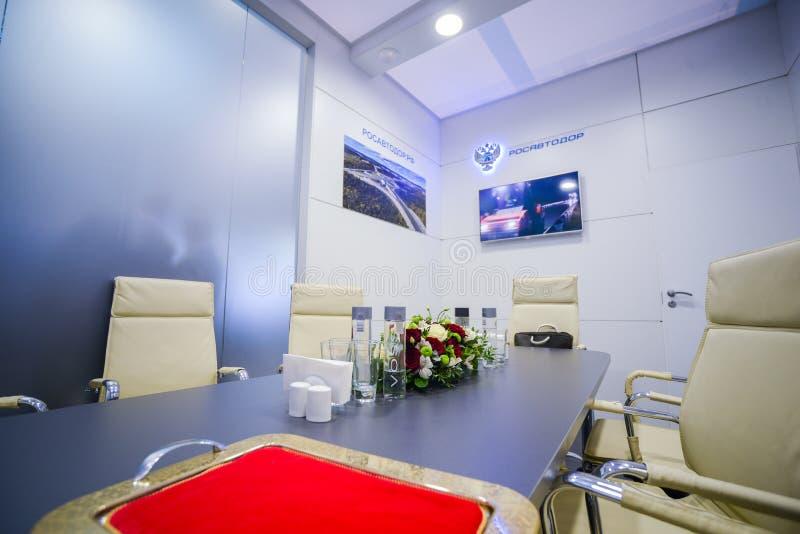 Rosavtodor-Stand bei TransRussia 2016 lizenzfreie stockfotografie