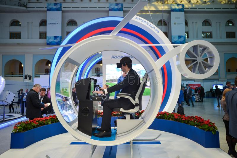 Rosavtodor-Stand bei TransRussia 2016 lizenzfreie stockfotos